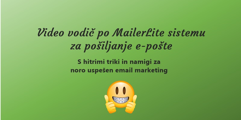 Mailerlite video vodič homepage